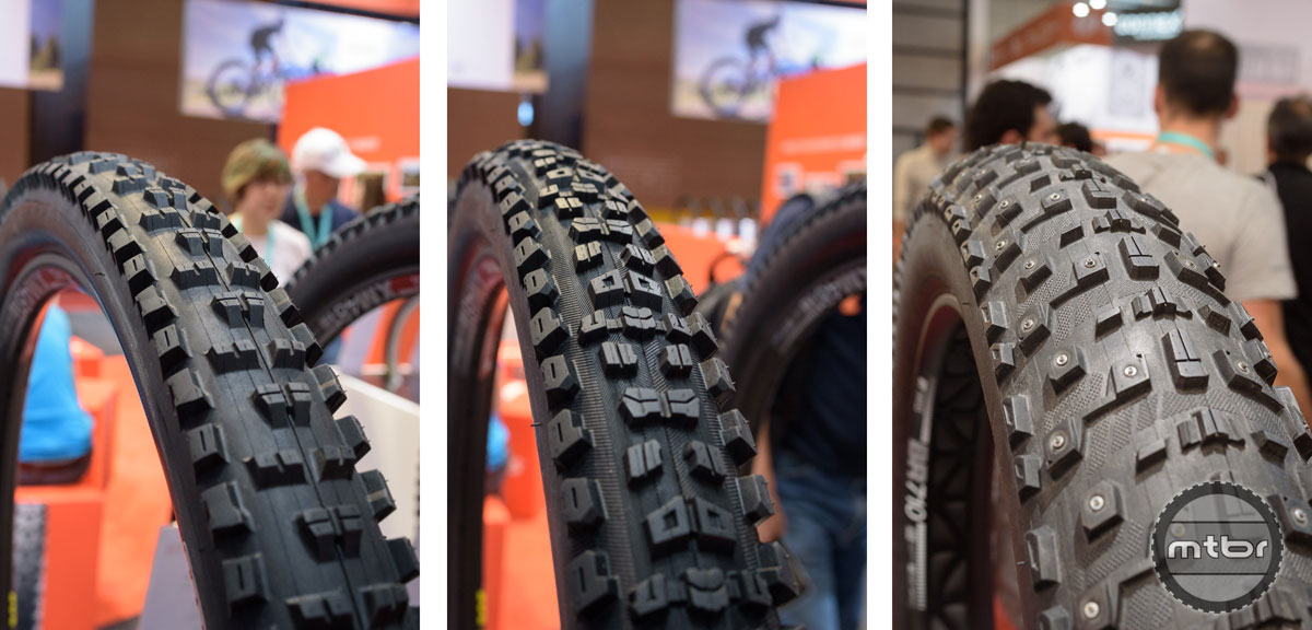 Maxxis High Roller II, Aggressor and Moose Track