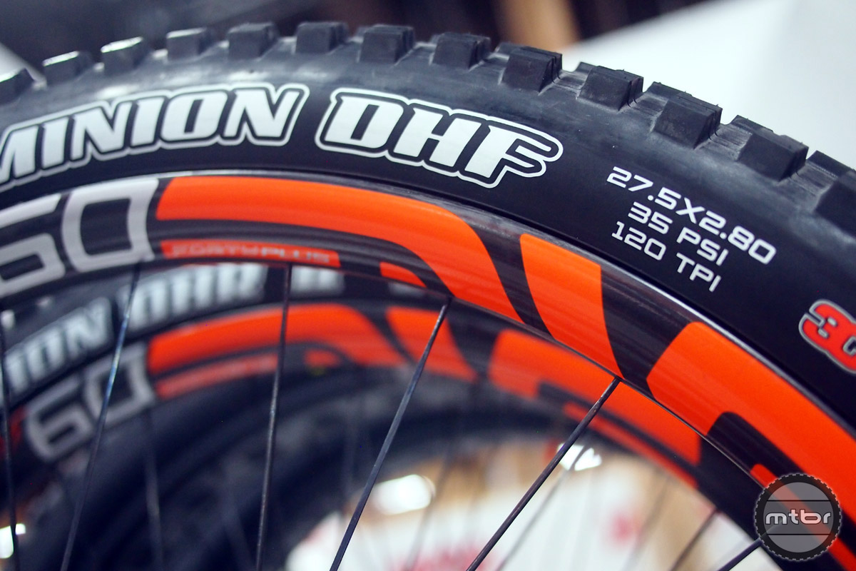 Upgrade your tires – tires are one of the easiest ways to upgrade your ride. The Maxxis Minion DHF pair up perfectly with the ENVE M60 Forty Plus above.