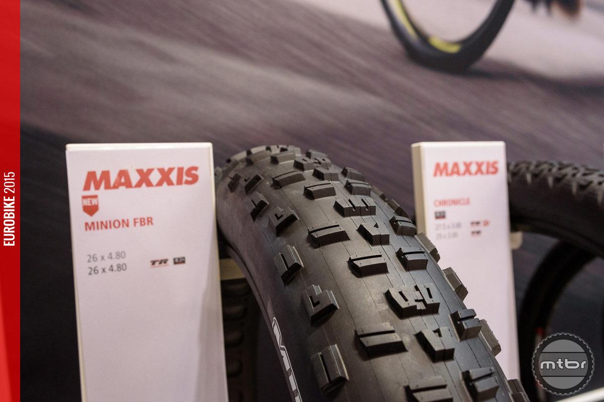 Maxxis Minion FBR fat bike tire.