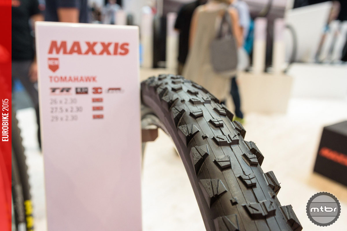 Maxxis Tomahawk all mountain tire.