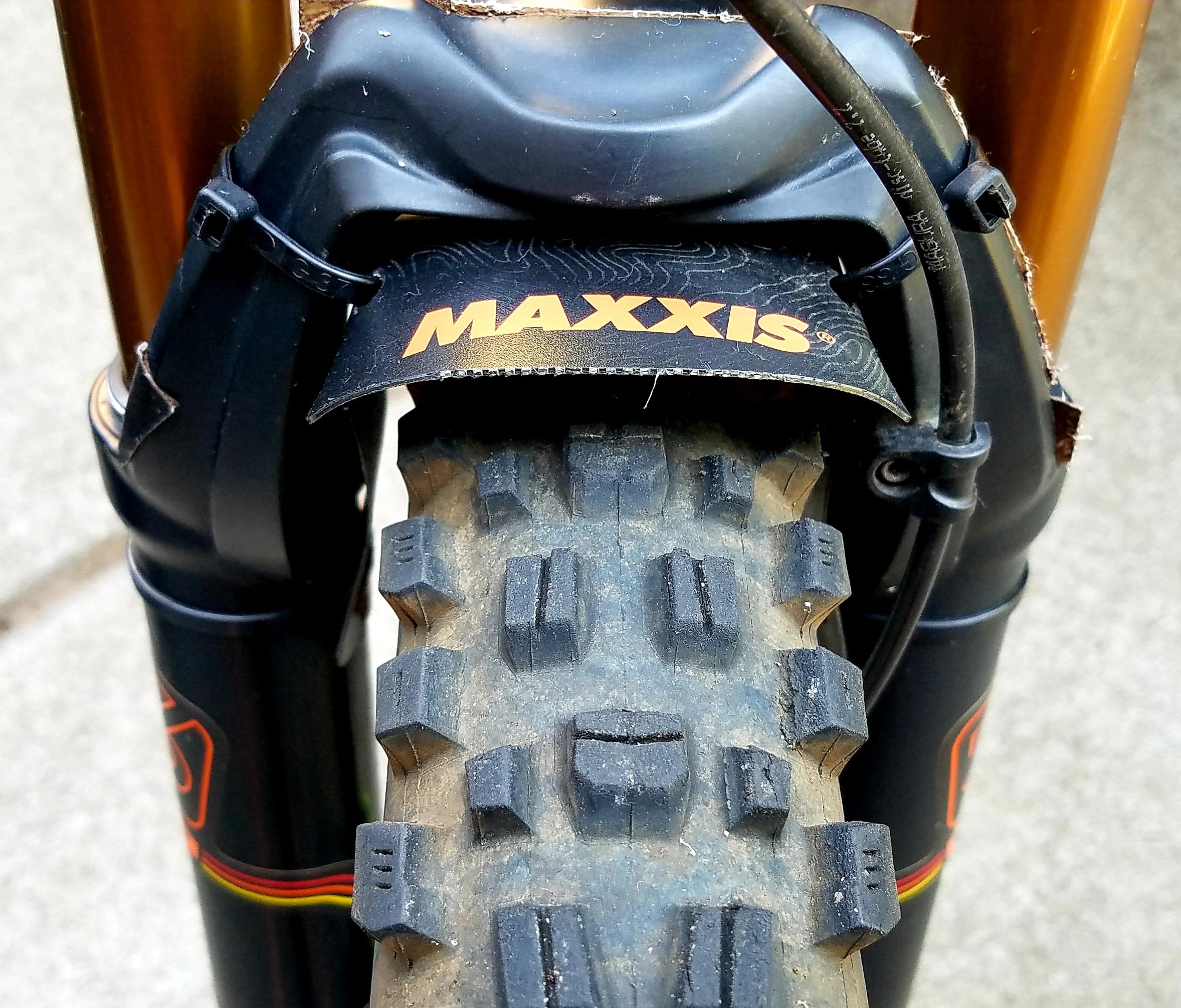 Tire wear after a dozen rides.