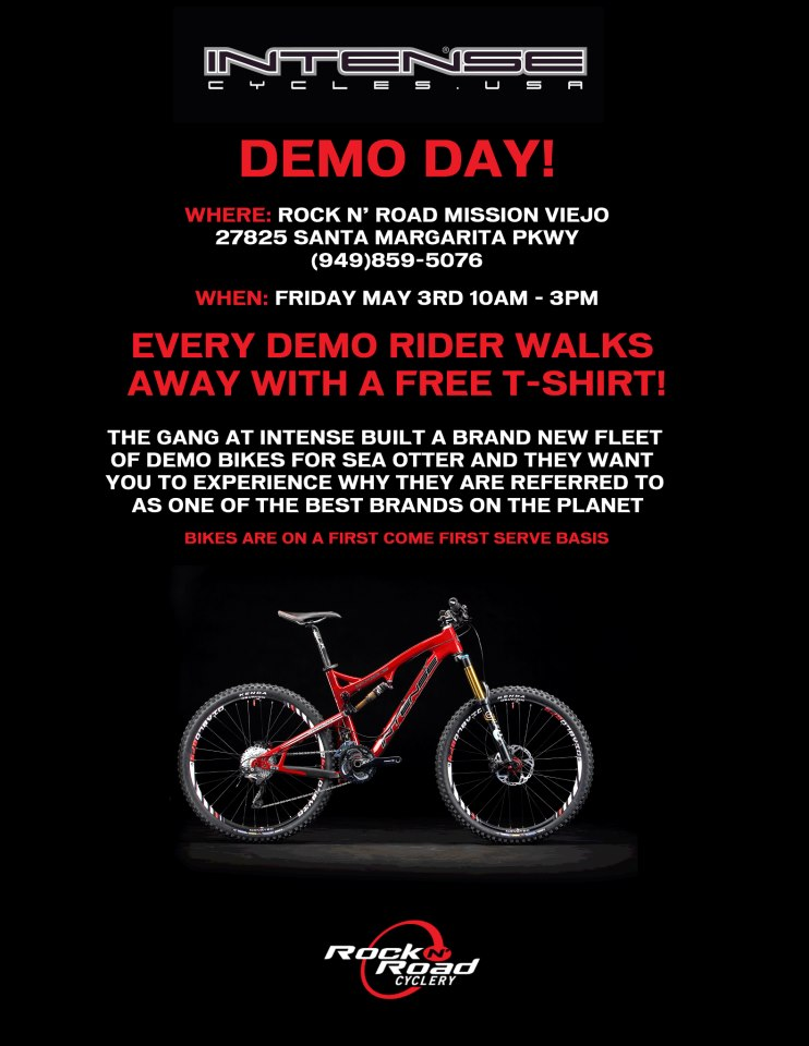 Rock 'n Road Cyclery/Intense Demo this Friday (5/3/13) in Mission Viejo!-may-3rd-demo.jpg
