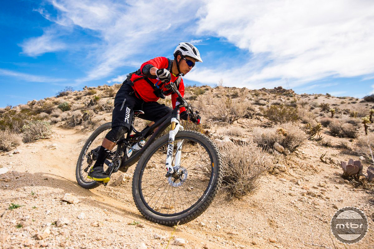 XTR Di2 performed seamlessly in the rugged desert terrain of Palm Springs, CA