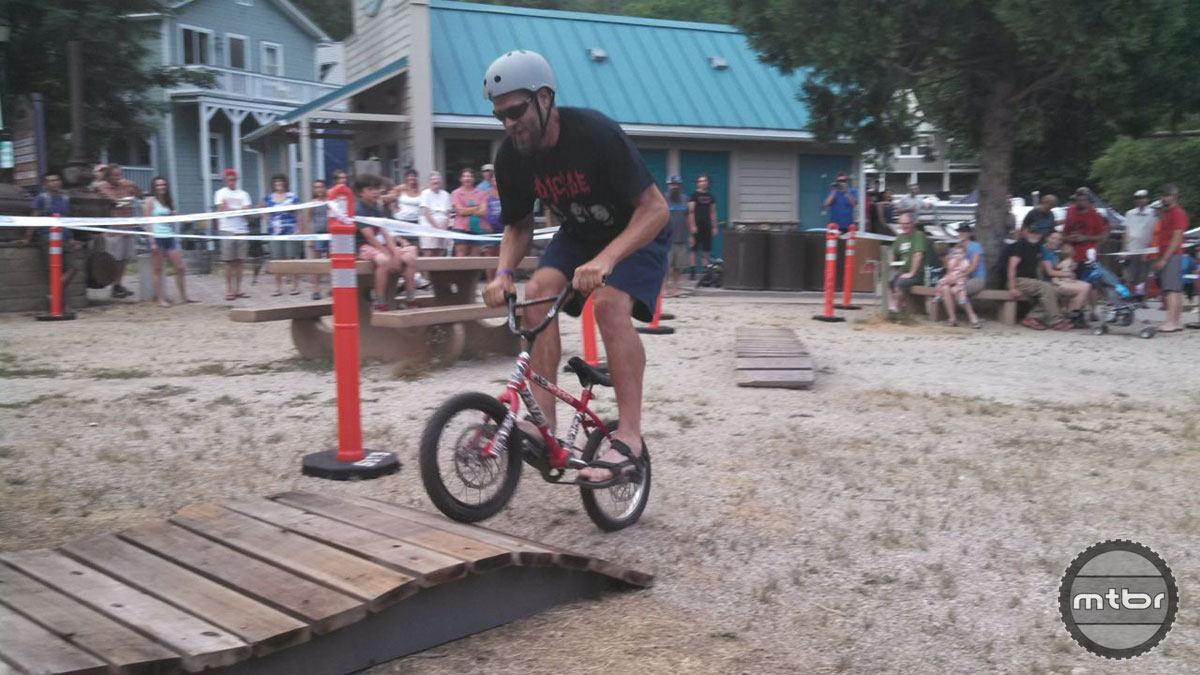 """""""The Metal"""" Mike Haire tears it up on the pixie-cross course."""