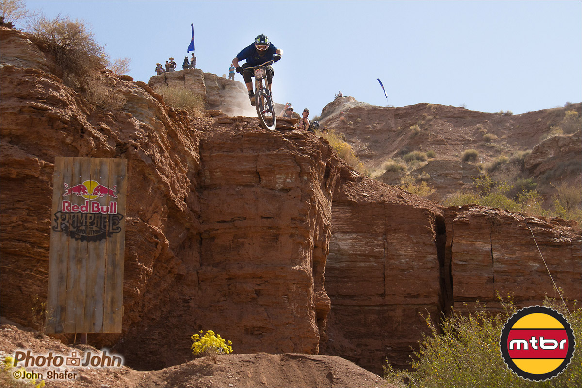 Ramon Hunziker Dropping - 2012 Red Bull Rampage Qualifying