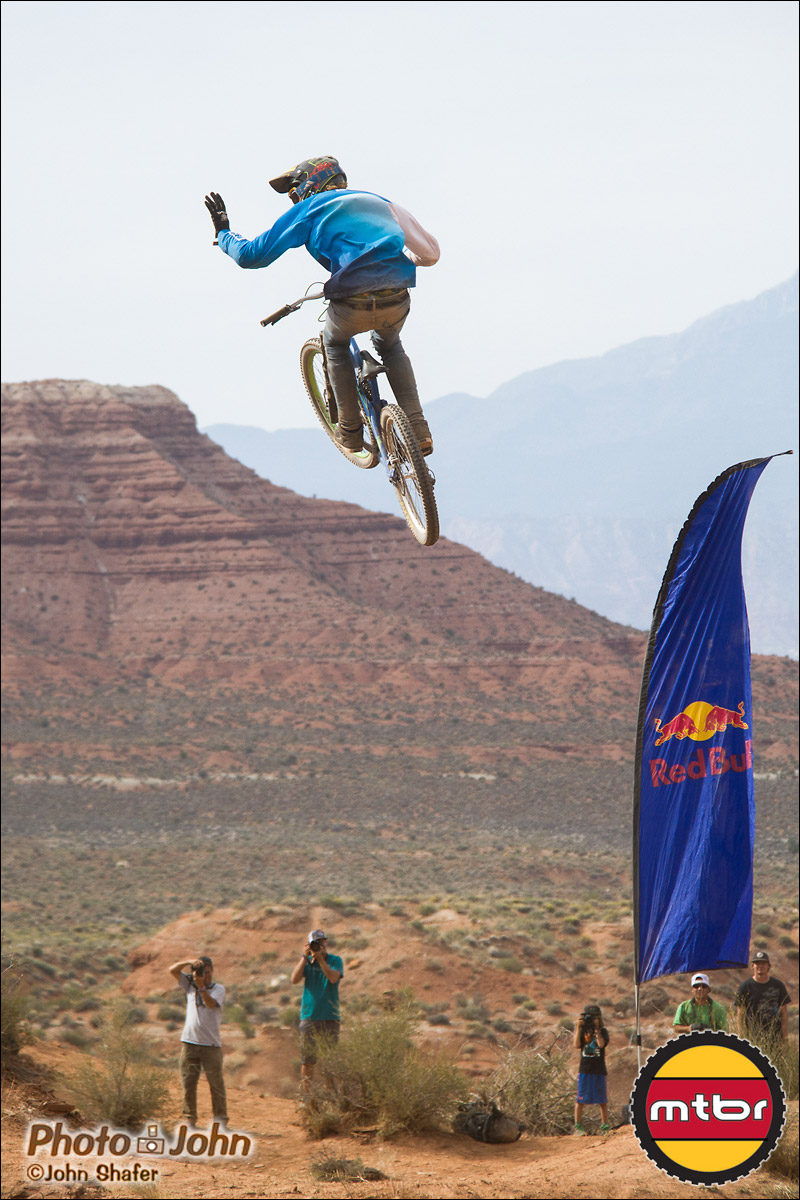 Thomas Genone Waving To His Fans - 2012 Red Bull Rampage