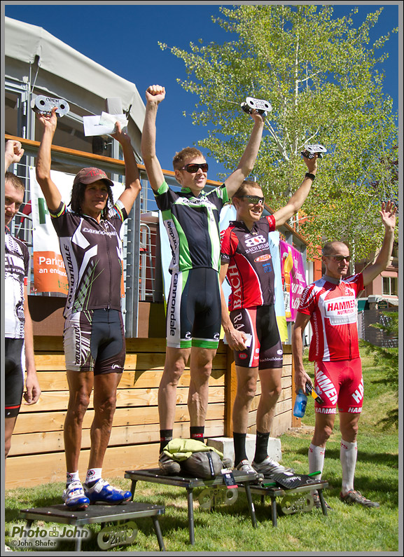 Park City Point-to-Point race - Open Men's Podium