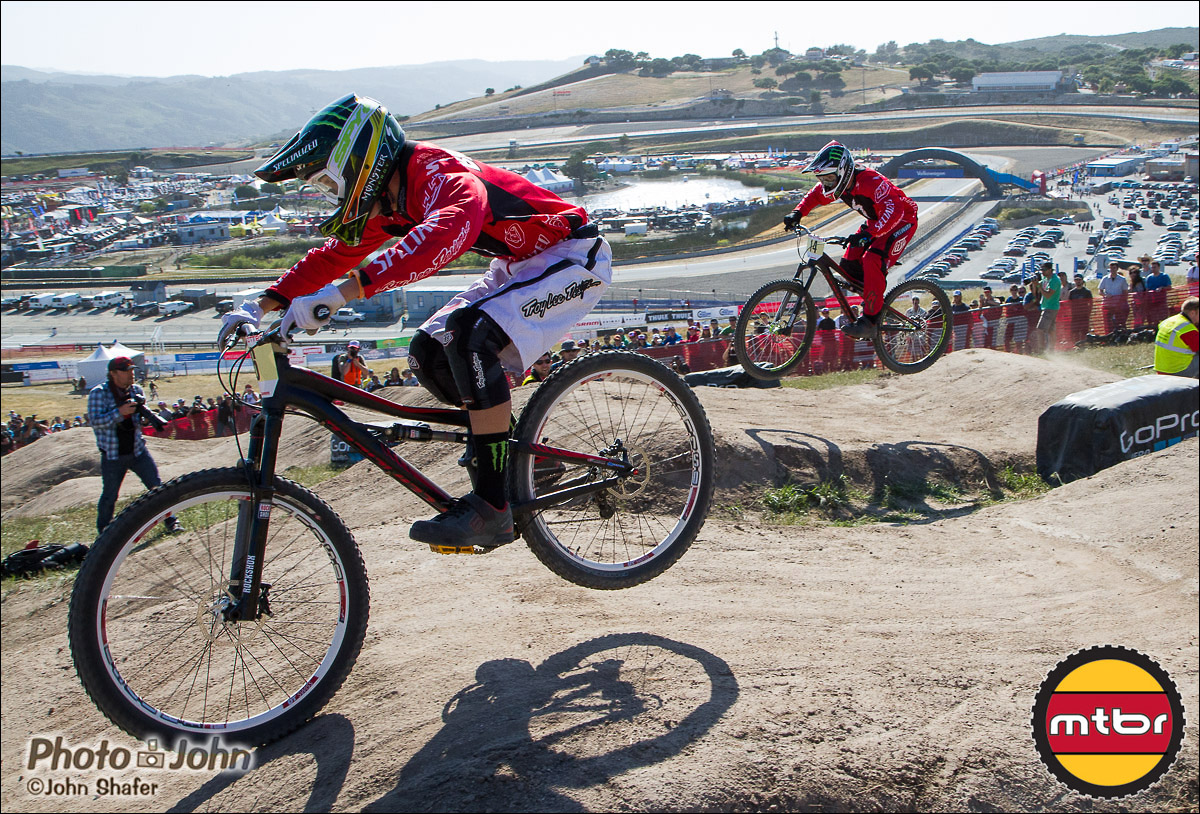 Troy Brosnan & Mitch Ropelato - 2013 Sea Otter Classic Dual Slalom Finals