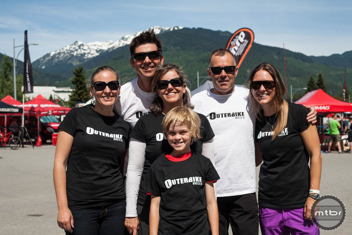 The team behind the event, including Whistler bike guru Grant Lamont, and Western Spirit Cycling owners Mark Sevenoff and Ashley Korenblat Photo by Norma Ibarra