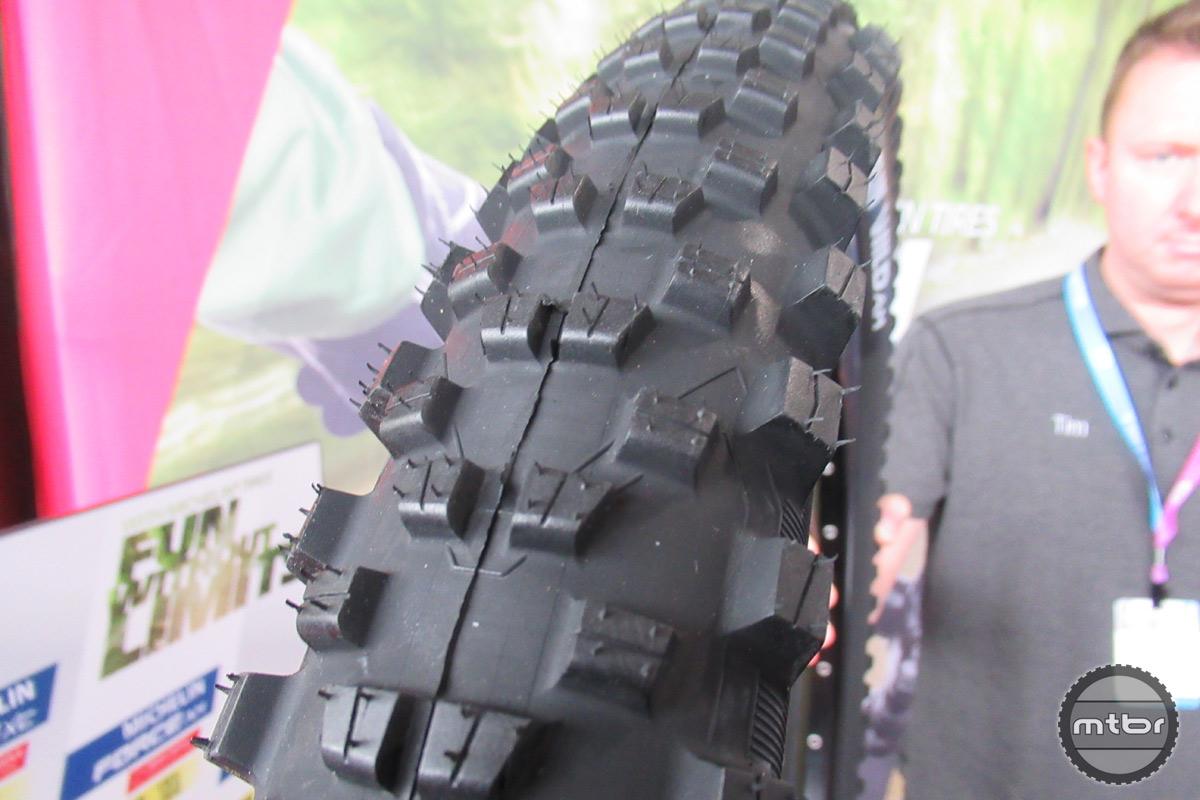Michelin Wild Enduro Tread Close Up
