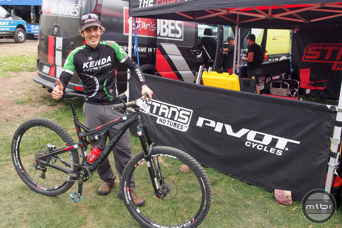 Now 42, Broderick's sponsors include Kenda, Stan's NoTubes, Intense, Crankbrothers and SRAM.