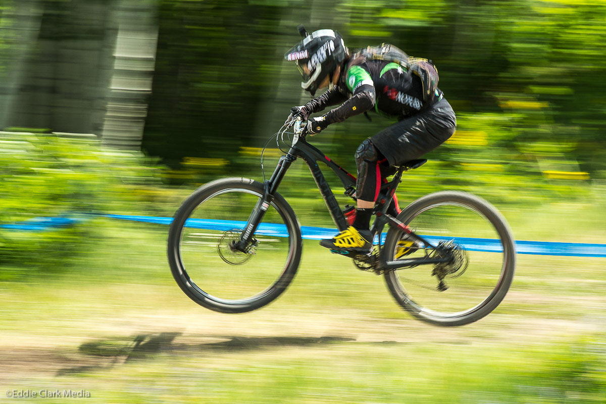 Broderick won four of six stages in Colorado to pick up his first EWS event win of the season. Photo by Eddie Clark