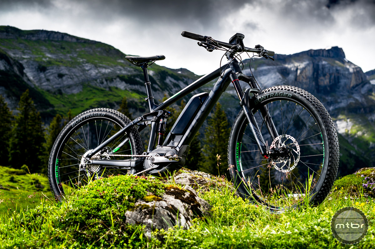 The Powerfly series is Trek's range of eMTB's. They've been available in Europe for years, but are formally being introduced to the US this year. Photo by Dan Milner and Gaudenz Danuser