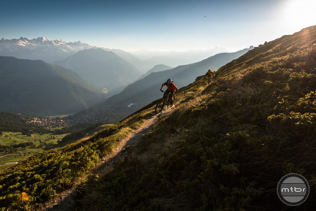 Trek Re:aktiv Thru Shaft in Verbier, Switzerland.