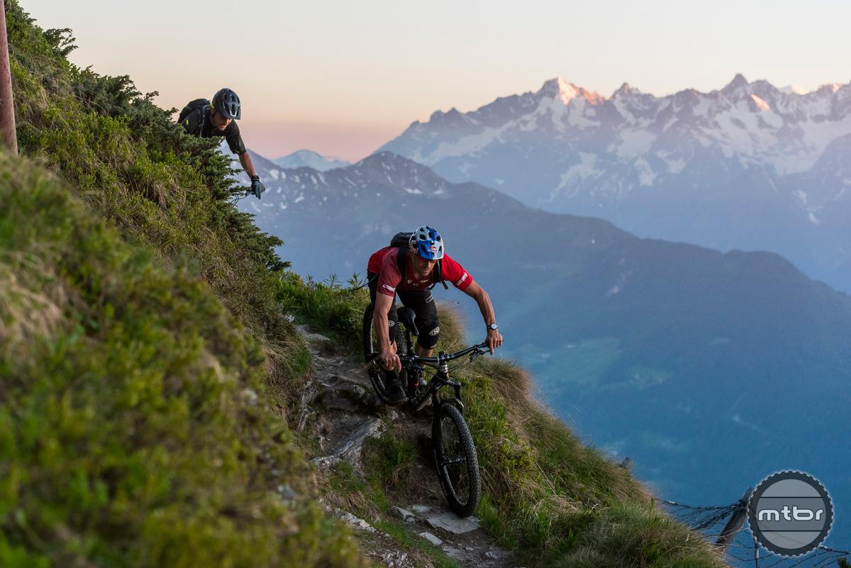 Trek Re:aktiv Thru Shaft on Slash 29er in Verbier, Switzerland.