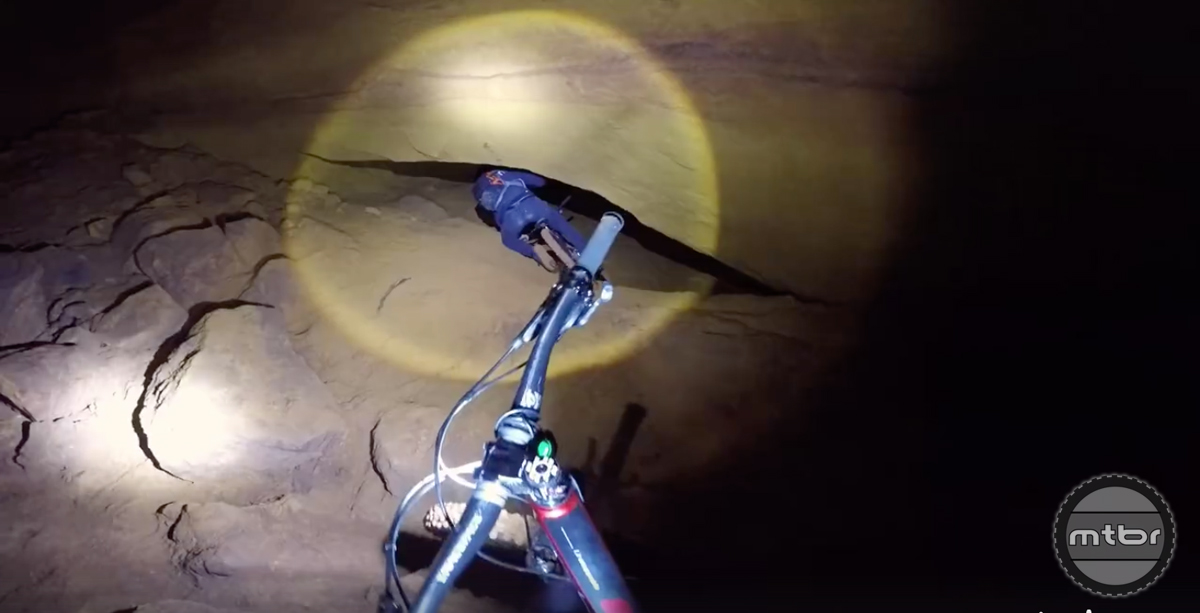 Would you tackle this mine shaft descent?- Mtbr com