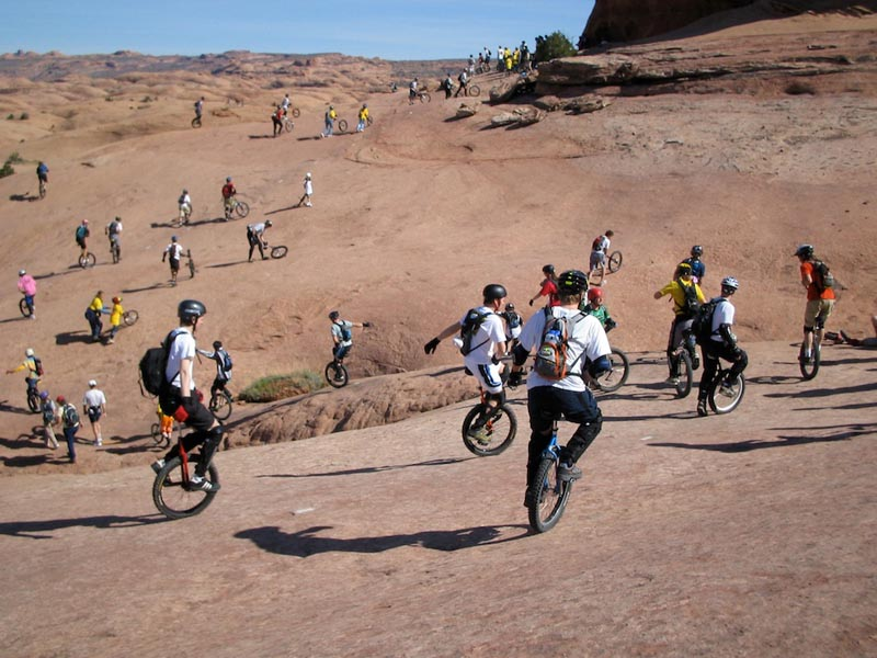 Riders: VariousLocation: Moab Slickrock Trail