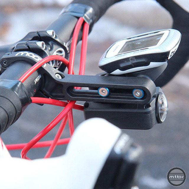 The Morsa mount with a Shimano camera and Garmin.