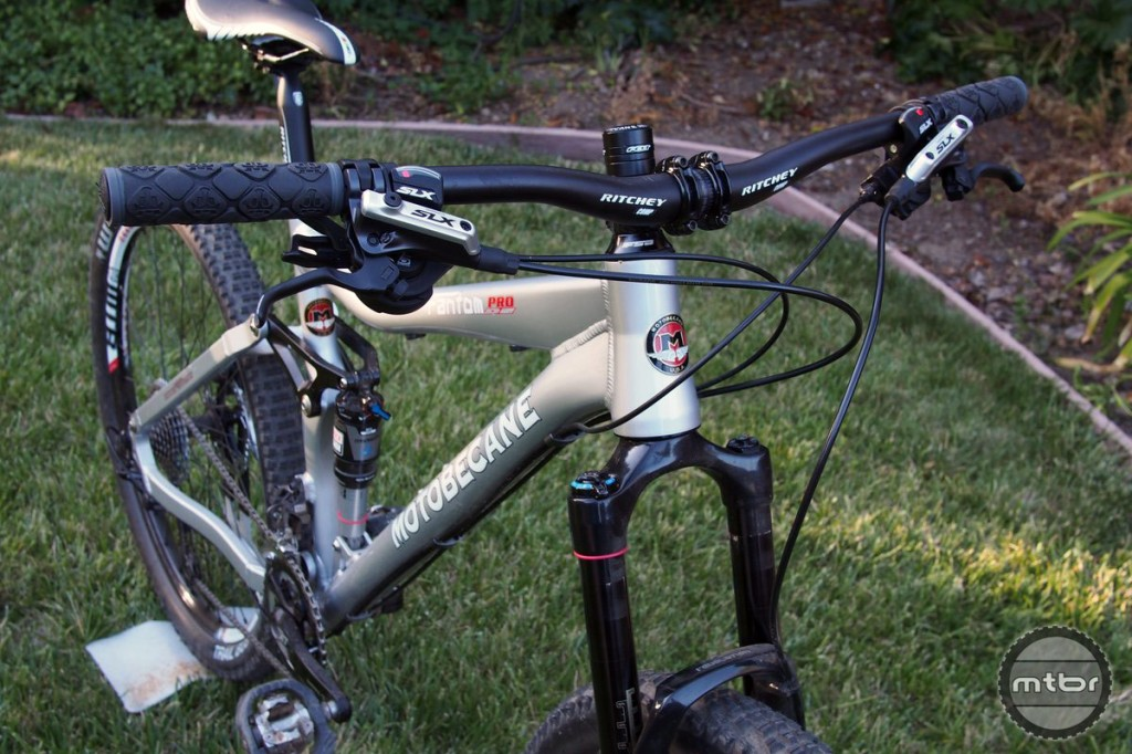 Bar and stem are made by Ritchey Components.