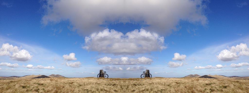 My fleet of bikes-mount-maw-pentlands.jpg