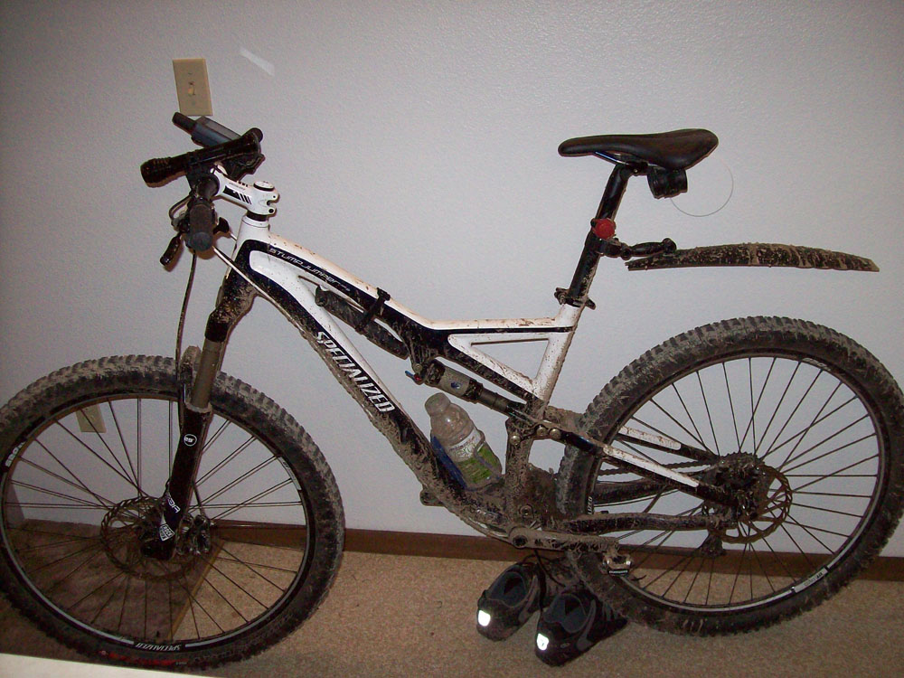 One picture, one line.  No whining. Something about YOUR last ride. [o]-mountain-mud.jpg