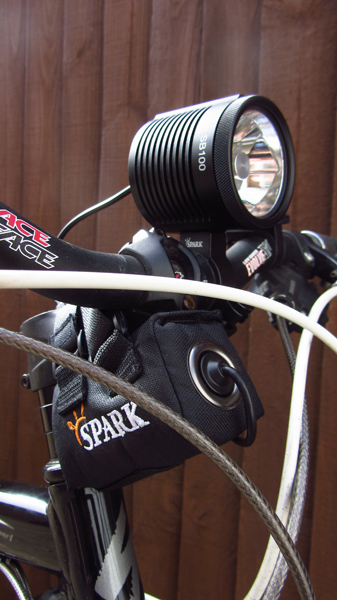 Dual beam, Twin XM-L New Cycle light from SPARK: SB100-mounted1-3-.jpg