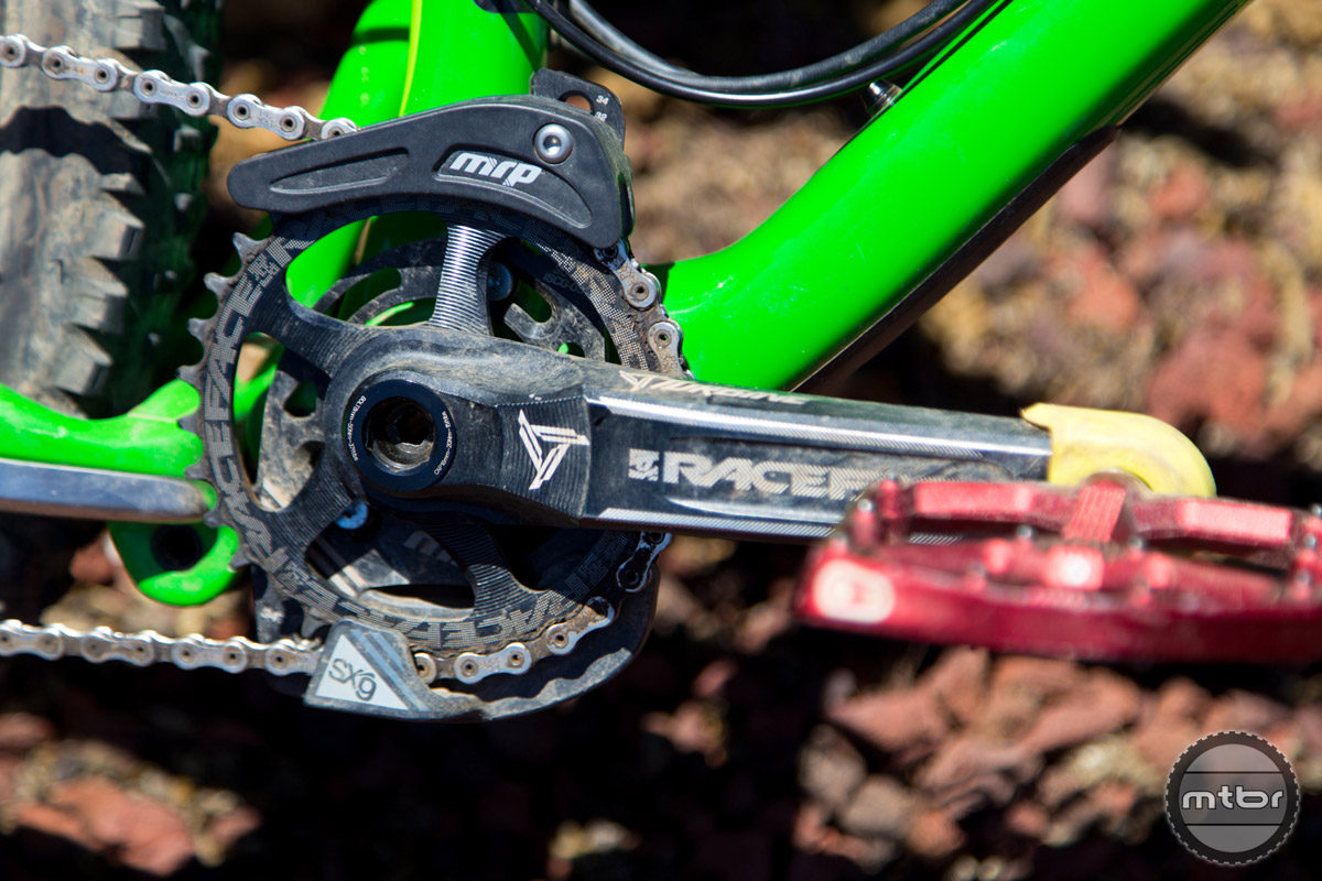 The MRP SXg works in conjunction with newer 1x technologies to help keep the chain in place without introducing drag.