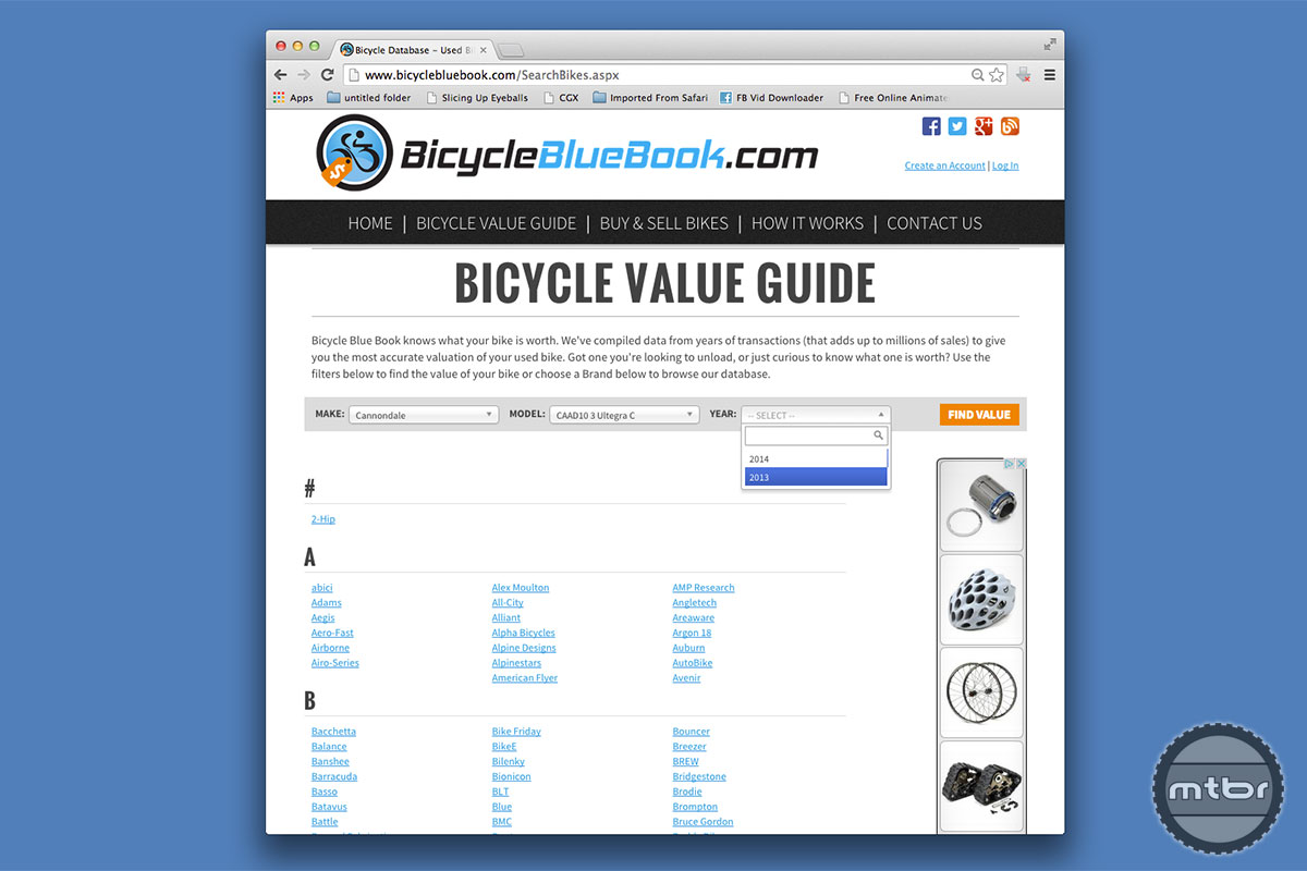 Bike Blue Book Values for your bike is easy with