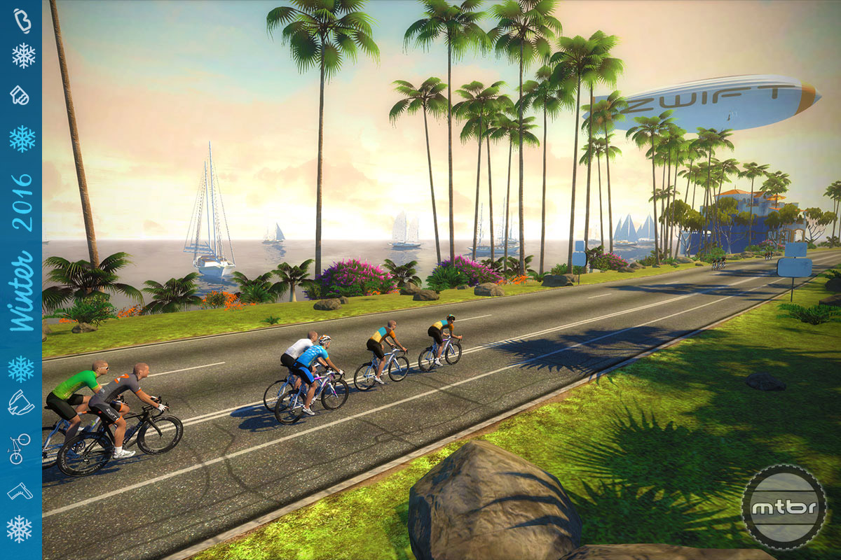 We've had a lot of success distracting ourselves by using virtual training tools, like Zwift.
