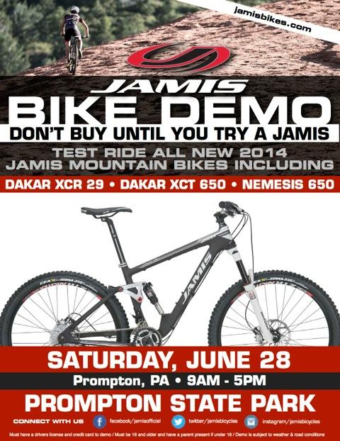 Jamis 650B Demo - Scranton, PA  Pedal & Paddle Festival-mtn-demo-flyer-prompton.jpeg
