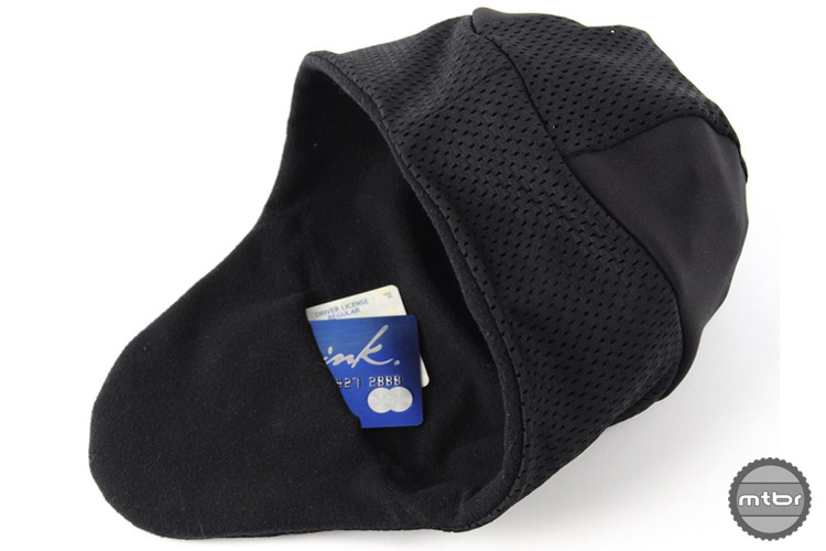 The back of the mullet hat features a secret hidden pocket that's large enough for a hand warmer, credit card, or cash.