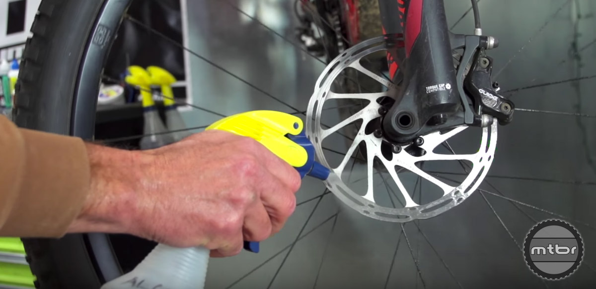 Clean rotors with a non-residual cleaner such as isopropyl alcohol.