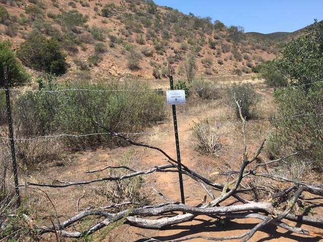 Clark Canyon Trail Damage (Goodan Ranch/Sycamore Canyon Area) - San Diego, CA-new-fence.jpg