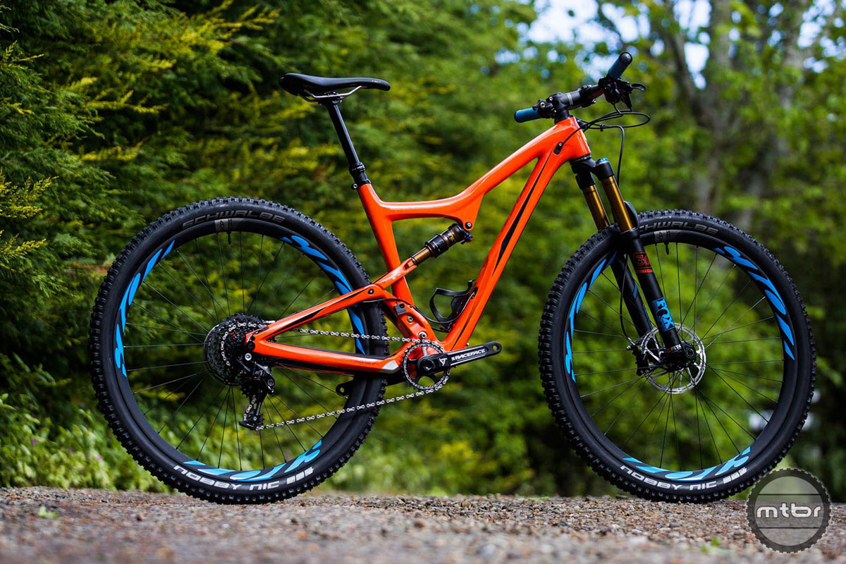 "The new Ibis Ripley is seen here in ""Tang"" orange."