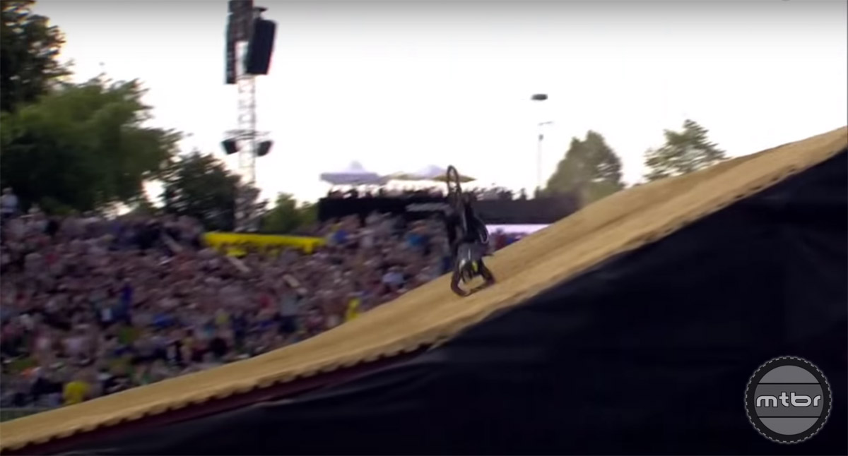 Last year, Rogatkin became the first rider to land a Corked 720 and a Cashroll on a downhill bike. As you can tell, sometimes it took a couple of tries.