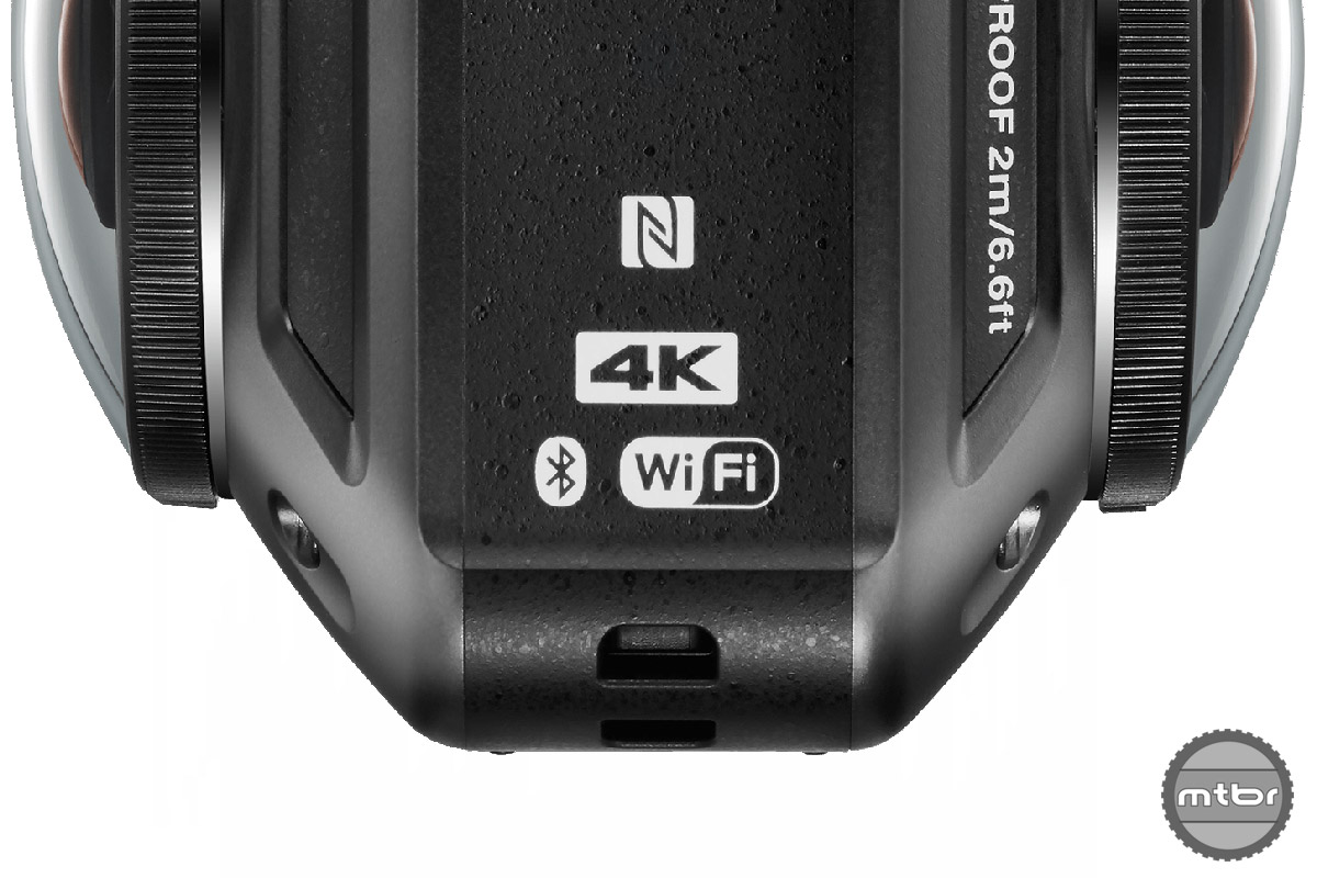 We presume the built-in Bluetooth and WiFi will enable you to adjust settings and view/transfer footage via your smartphone.