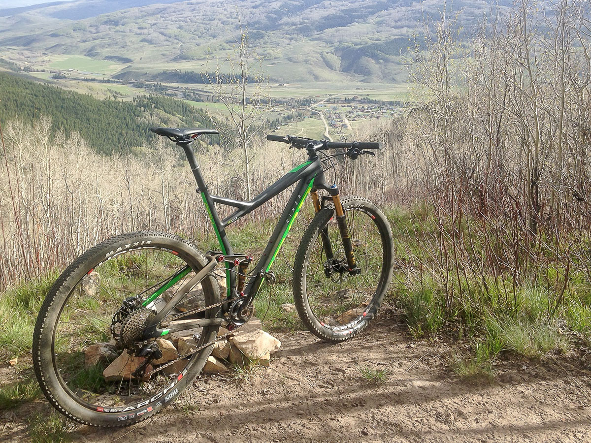 This bike is meant to get you places where you are looking down on other places. That's our Crested Butte South home somewhere down there.