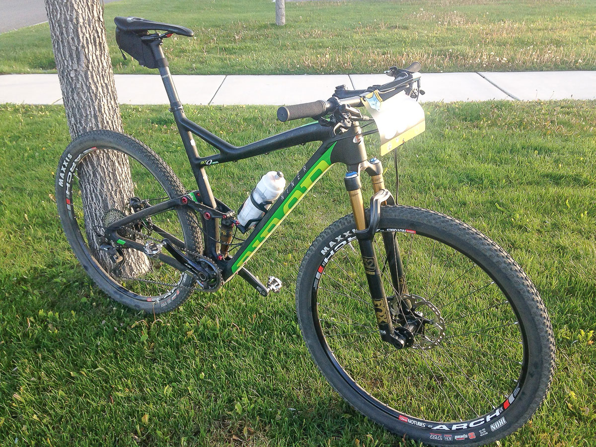 Our race day set-up for Gunnison's Half Growler, a course that was perfectly suited for this bike.