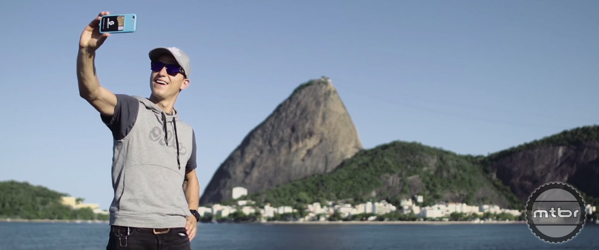 After his big win Schurter finally had a little time to relax in Rio.