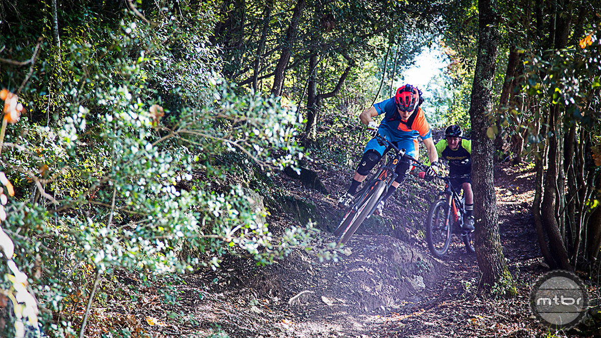 In Tuscany where the trails start just below the Schurter home. Photo by Jochen Haar