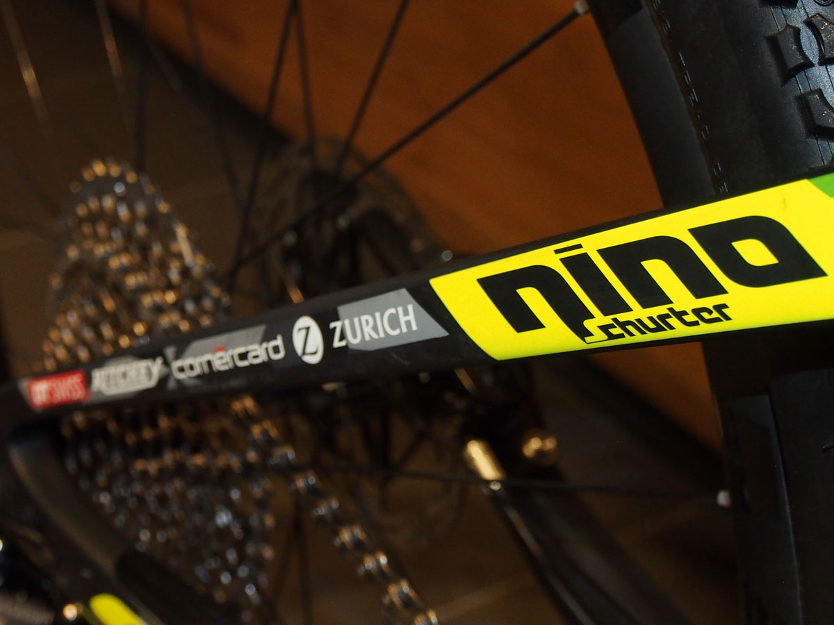 Nino's name. Nino's sponsors. Must be Nino's new bike.