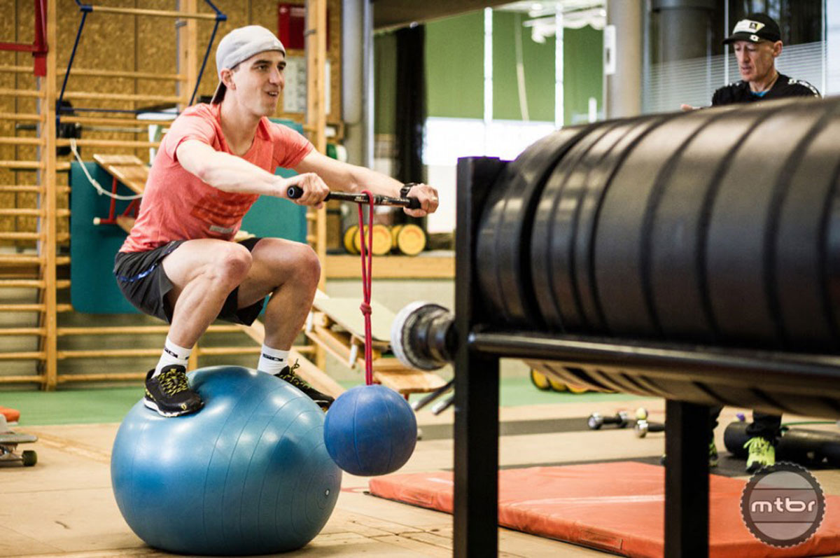 The longtime Scott-sponsored ride is renown for his off-bike training regimen.