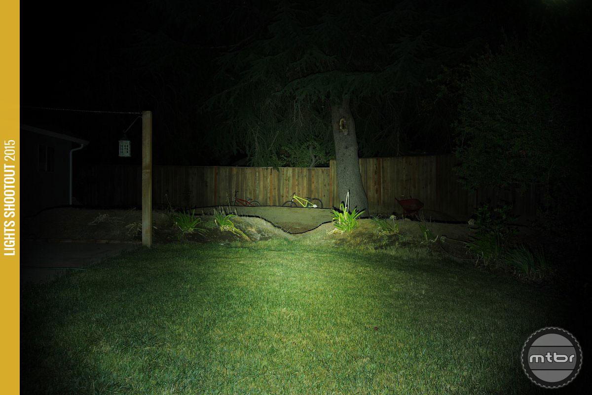 NiteRider Lumina 750 Backyard Beam Pattern