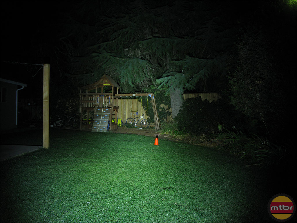 Niterider Minewt 600 Cordless Backyard Beam Pattern
