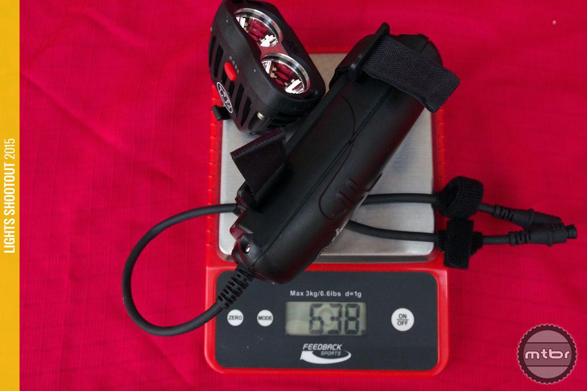 NiteRider Pro 2200 System Weight