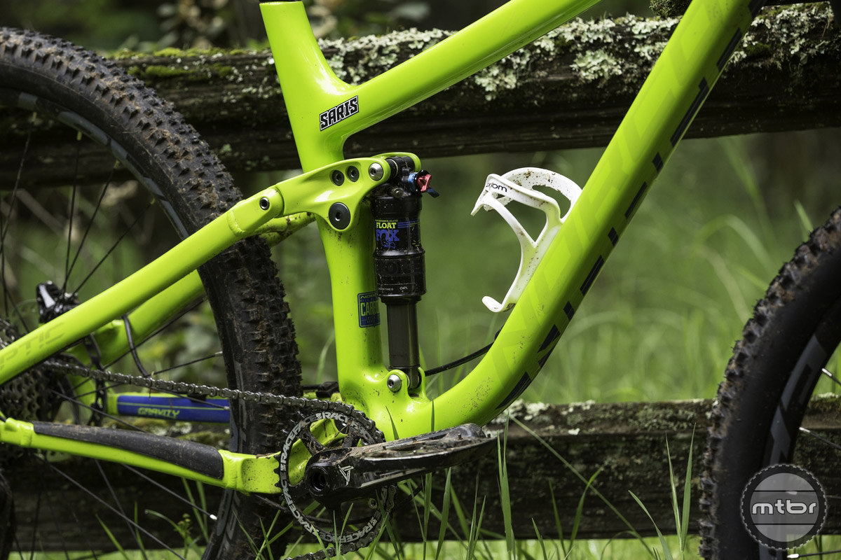 Both versions of the Optic utilize Norco's version of a Horst link suspension, called A.R.T., which they've tuned to offer a smoother more balanced pedaling feel than their longer travel models.