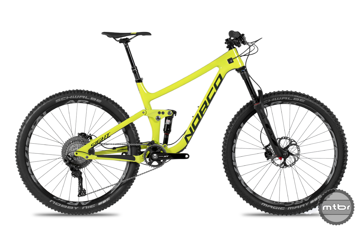 Norco Carbon Sight 2017 650b 29er Yellow Mtbr Com