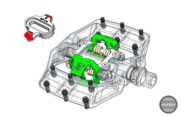 Nukeproof Horizon CS CL Clipless Dual Engagement SPD Cleat CAD