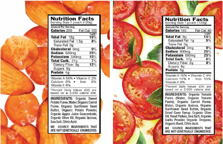 Clif Organic Energy food - nutrition information