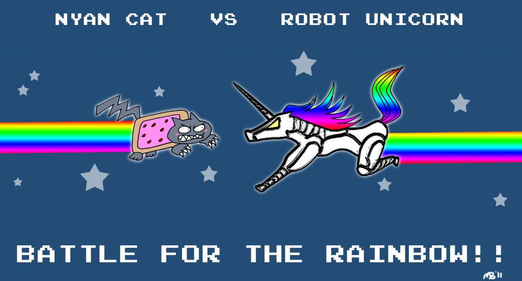 Beer and cancer ?-nyan_cat_vs_robot_unicorn_by_monjava-d3kj52x.jpg